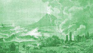 Ricostruzione della morte di Plinio il vecchio nel 79 d.C.