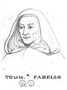 Ritratto di Tommaso Fazello, dall'edizione del 1830