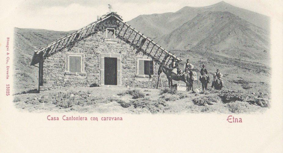 La Casa Cantoniera, tra ottocento e novecento. Fotografia presente negli archivi Alinari, nel Fondo Gaetano Ponte (AFT, I.N.G.V.) e in numerosissime versioni su numerose cartoline postali