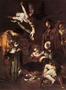 Michelangelo_Merisi_da_Caravaggio_-_Nativity_with_St_Francis_and_St_Lawrence_-_WGA04193