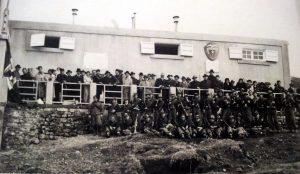Milizie fasciste il giorno della visita di Mussolini.