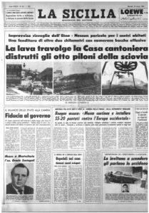 Prima pagina de La Sicilia del 29 marzo 1983