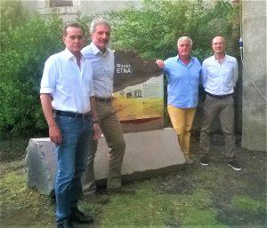 """Da sinistra: Aldo Leontini, Sergio Mangiameli, Gaetano Perricone e Stefano Branca, il team de """"Le Colate Raccontate"""""""