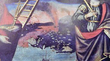 3 PLATANIA Il teatro eruttivo tra le sante Venera e Tecla (particolare). Foto S. Scalia