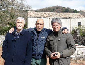 Un bel ricordo: con Giovanni Tomarchio e il popolare giornalista Rai Carlo Paris al Parco dell'Etna