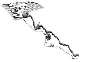 Fig. 8 - Sezione della Grotta delle Palombe