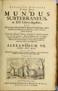 Fig. 7- Frontespizio Mundus Subterraneus