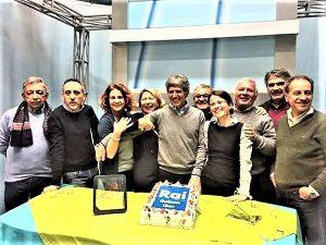 Il saluto di Giovanni Tomarchio ai colleghi della redazione TGR di Catania prima della pensione