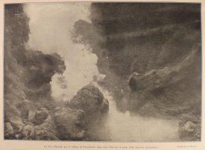 La lava nel torrente Pietrafucile (da un periodico dell'epoca)