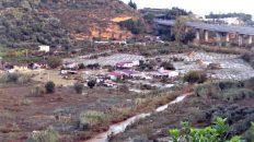 Il fiume Milicia e il pianoro dove e' straripato causando la morte di 9 persone che si trovavano in una villetta, a Casteldaccia (Palermo), 4 novembre 2018. ANSA/ RUGGERO FARKAS