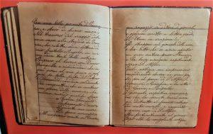 Il racconto dell'eruzione nelle pagine del diario di un emigrato in Argentina (mio scatto)