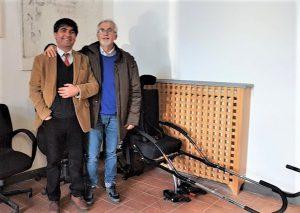 Con Salvo Caffo, accanto a Jolette