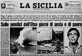 Prima pagina del quotidiano La Sicilia