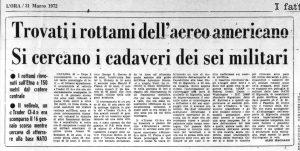 Così il giornale L'Ora di Palermo il 31 marzo 1972