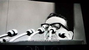 Salvador llende in una immagine del film