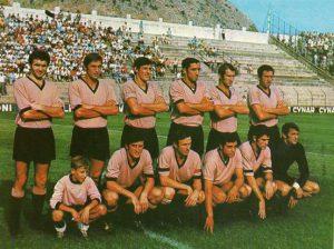 """il """"Barone"""" nel Palermo 1969-70: è il terzo da destra, accosciato"""