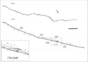 Rilievo topografico della Tre Livelli – (Centro Speleologico Etneo)