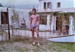 Francesco Lo Coco nel luglio 1972 in Spagna, a Castro Urdiales, a casa degli zii