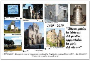 Cartolina commemorativa del trasporto della nuova campana (Collezione personale)