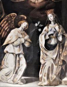 L'Annunciazione di Mompileri, dipinto attribuito a Giacinto Platania (Chiesa di Massa Annunziata – Foto S. Scalia)