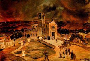 La Chiesa Madre - Olio del pittore Domenico Agosta