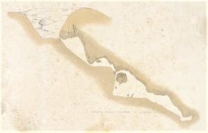 Sezione della Grotta delle Palombe disegnata nel 1839 da Wolfgang Sartorius Von Walthershausen. Il disegno è tratto da Der Etna 1880, II, 201. La sezione è il primo rilevamento topografico conosciuto di una grotta vulcanica italiana.