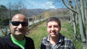 Rosario Catania con Ettore Barbagallo, ideatore e promotore del Teatro dei Miti
