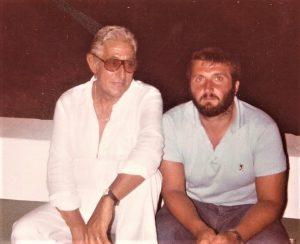 Con Renzo Barbera a Pantelleria nell'agosto 1981