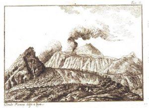 Disegno di Corrado Marano in Istoria dell'incendio dell'Etna del mese di maggio 1819 di Carmelo Maravigna