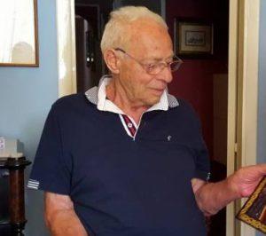 Orazio Nicoloso, fratello di Antonio (foto da Facebook), che ha appena compiuto 90 anni