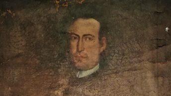Particolare del ritratto del Barone Lorenzo Bufali (Foto S. Scalia)