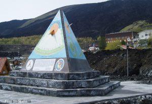 La piramide astronomica realizzata a Nicolosi Nord