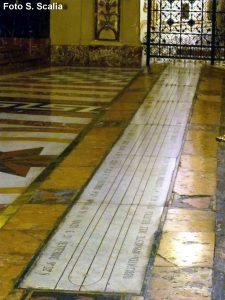 Le meridiane della Basilica Cattedrale di Acireale e della chiesa San Nicolò l'Arena di Catania (Foto S. Scalia)