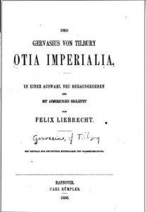 Gervasius da Tilbury – Otia Imperialia