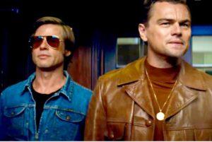 Brad Pitt e Leonardo Di Caprio in una scena del film