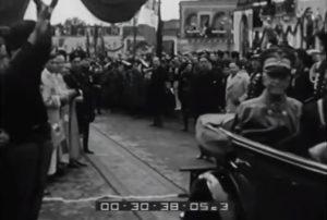 Vittorio Emanuele III inaugura l'Autostrada dell'Etna (Archivio Storico Luce - B0560)