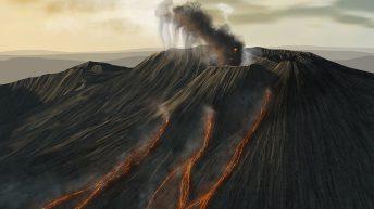 13 ottobre, alba sul Cratere di Nord Est