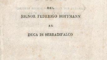 Intorno al nuovo vulcano presso la città di Sciacca. Lettera del Signor Federigo Hoffman al Duca di Serradifalco, Reale Stamperia, Palermo, 1831