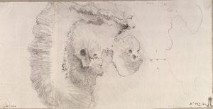 Jean-Pierre-Laurent Hoüel – Pianta dell'Isola di Vulcano e Vulcanello (1776-79) – Museo dell'Hermitage