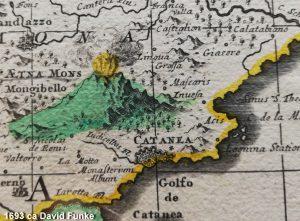 ~1693 – particolare dalla carta di David Funke (Collezione La Gumina)