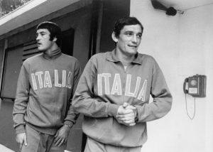 Albertosi Gigi Riva insieme in ritiro con la Nazionale (dal web)