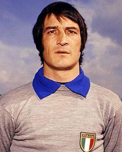 Ricky Albertosi con la maglia azzurra