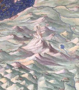 Il Monte Etna, particolare da foto di G. Perricone