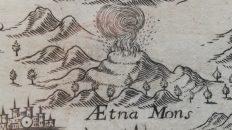 L'Etna nella carta della Sicilia di Joannis a Montecaliero (1649) – Collezione La Gumina