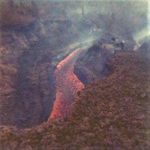 Eruzione 1971, le bocche di quota 1800 e 1850 in contrada Serracozzo (foto S. Scalia)