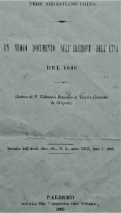 Frontespizio della pubblicazione di Crinò (collezione personale)