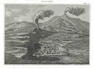 L'eruzione del 1669 – da Natural History – 1820 (Collezione Personale)