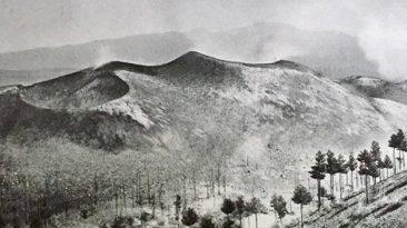 I Monti Sartorius ancora fumanti, fotografati da Paul Berthier