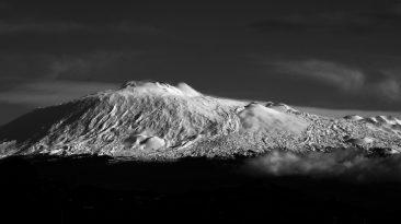 Il vulcano Etna visto da Catenanuova (Foto S. Scalia)