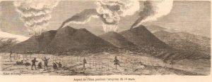 L'Etna pendant l'éruption du 10 mars - da Le Monde Illustré N. 420 del 29 aprile 1865